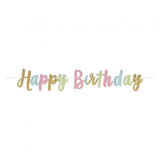 """Happy Birthday"" Γιρλάντα Γράμματα"