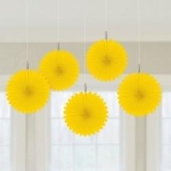 Κίτρινες βεντάλιες mini