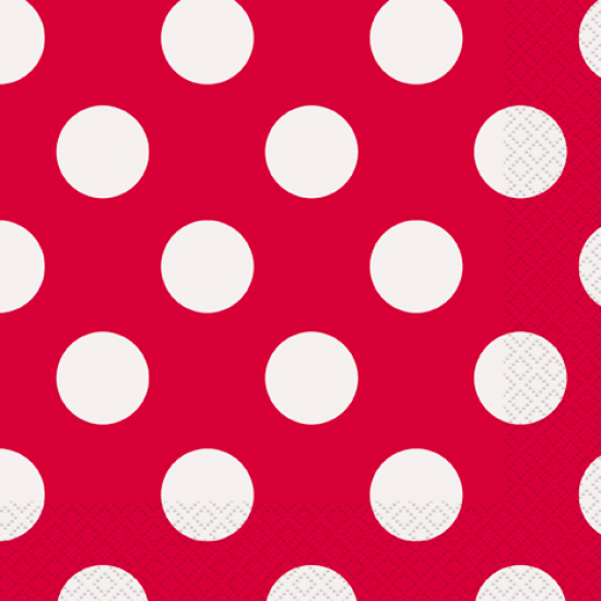 """""""Ruby Red Dots"""" Χαρτοπετσέτα"""