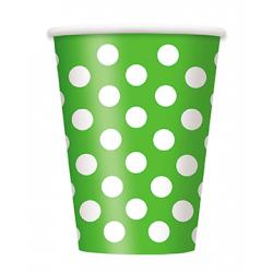 """Lime Green Dots"" Ποτήρι"