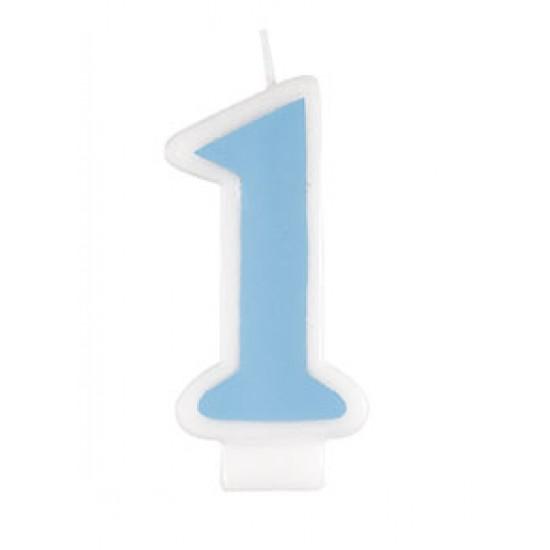 Κεράκι Γαλάζιο για τα Πρώτα Γενέθλια