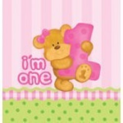 """Bear's First Birthday-Girl"" Τραπεζομάντηλο"