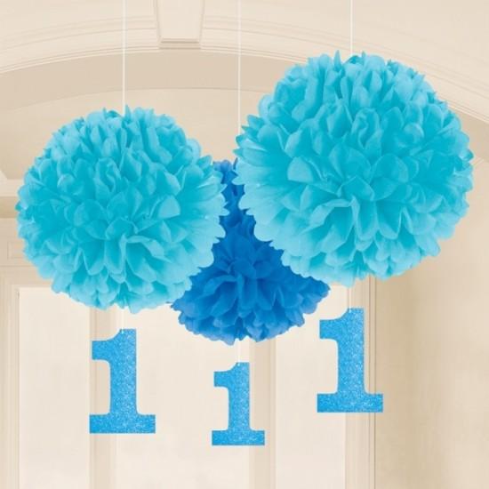 Μπλε Fluffy 1st