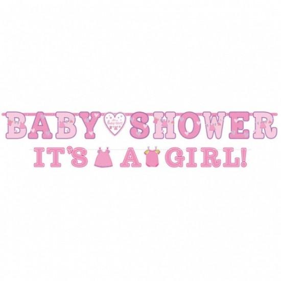 """Shower with Love Girl"" Γιρλάντα Γράμματα"