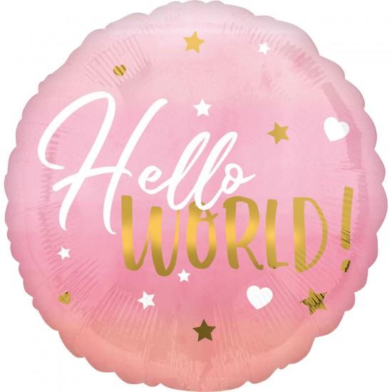 """Oh Baby Girl"" Μπαλόνι Hello World"