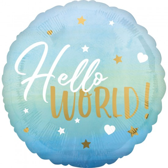 """Oh Baby Boy"" Μπαλόνι Hello World"