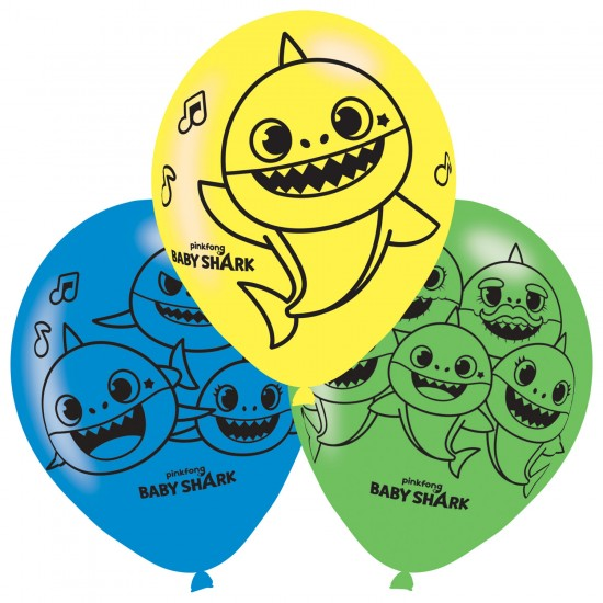 """Baby Shark"" Μπαλόνια 11"" λάτεξ"