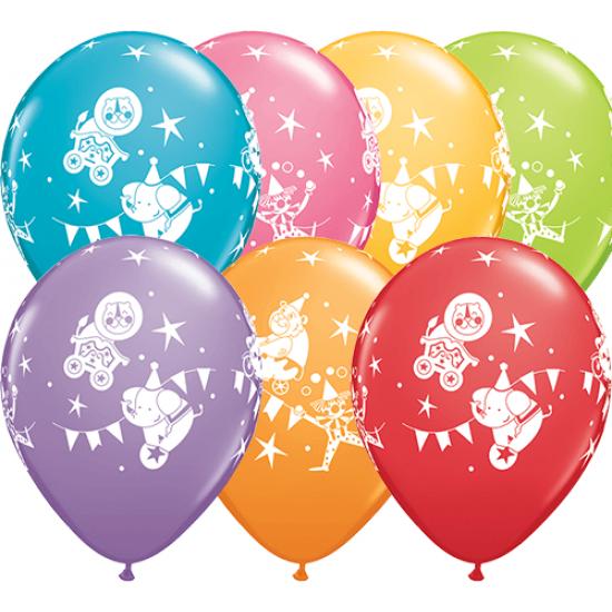 """Μπαλόνι 11"""" latex με τσίρκο"""