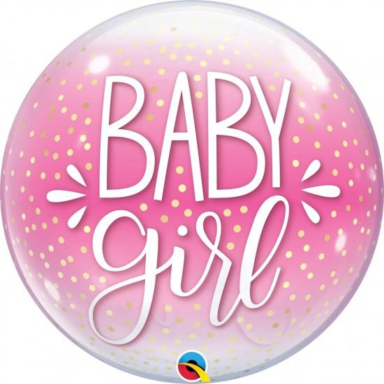 BUBBLE BABY GIRL BLUE & CONFETTI DOTS
