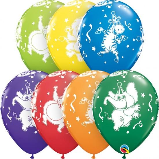 """Μπαλόνι 11"""" latex με ζωάκια πάρτι"""