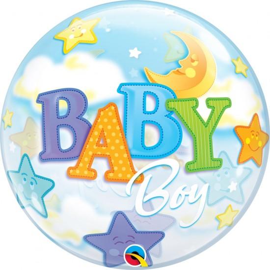 BUBBLE BABY BOY MOON & STARS