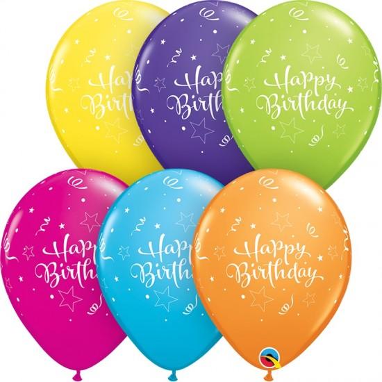 """Μπαλόνι 11"""" λάτεξ Happy Birthday"""