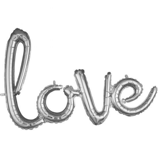 """love"" Μπαλόνι foil silver"