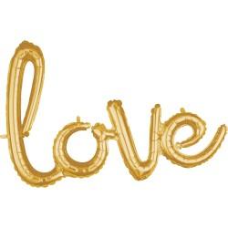"""love"" Μπαλόνι foil gold"