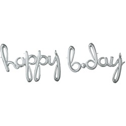 """Happy Birthday"" Μπαλόνι foil silver"