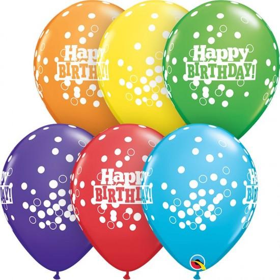 """Μπαλόνι 11"""" latex birthday confetti dots"""