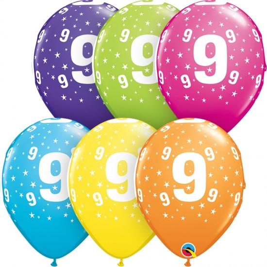"""Μπαλόνι 11"""" λάτεξ #9"""