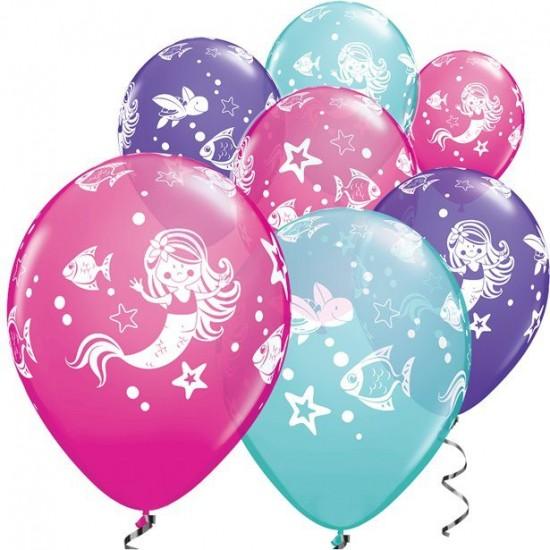 """Μπαλόνι 11"""" latex γοργόνα"""