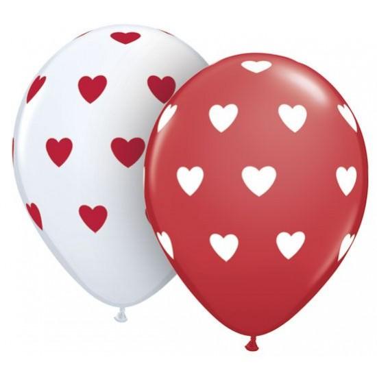 """Μπαλόνι 11"""" latex big Hearts"""