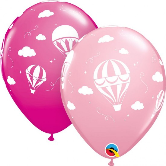 "11"" Baby Girl Hot Air Balloon"