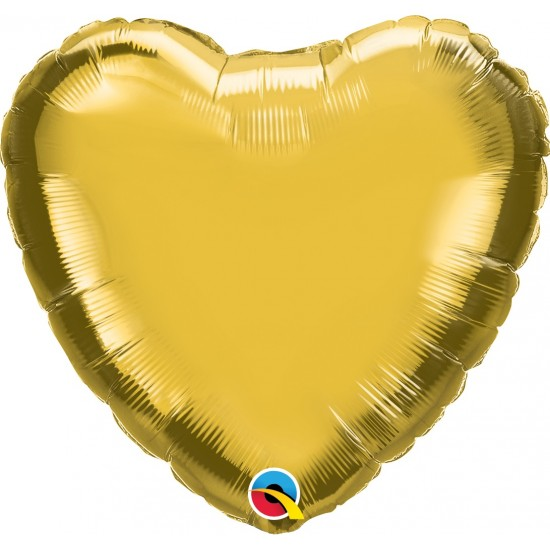 "18"" HEART METALLIC GOLD"