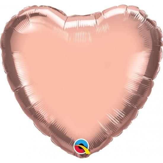 "18"" HEART ROSE GOLD"