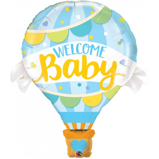 S/S WELCOME BABY BLUE BALLOON