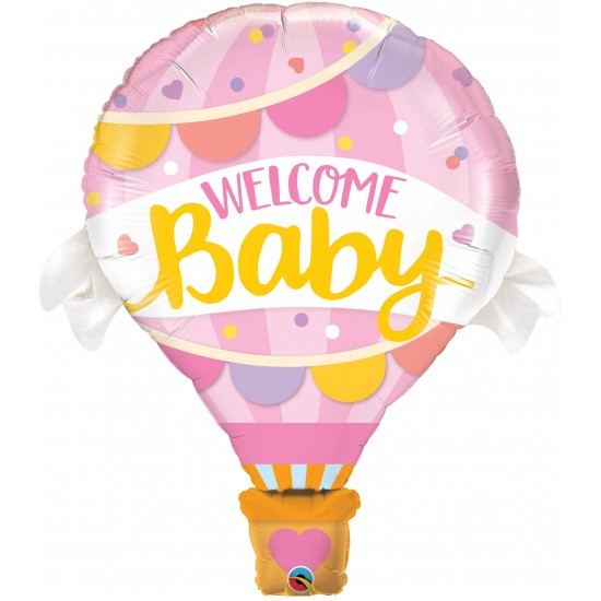 S/S WELCOME BABY PINK BALLOON