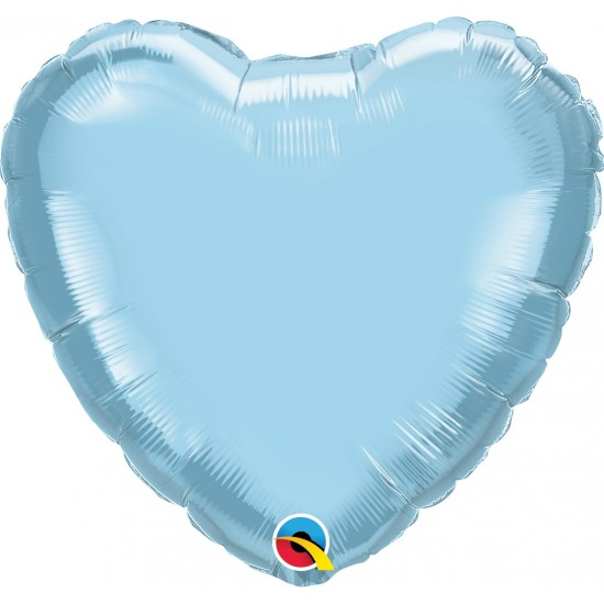 "18"" HEART PEARL LIGHT BLUE"