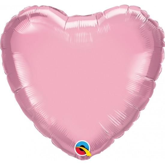 """18"""" HEART PEARL PINK"""