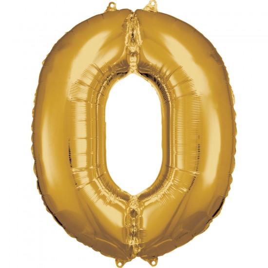 Νούμερο 0 χρυσό με ήλιον