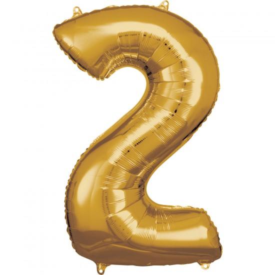 Νούμερο 2 χρυσό με ήλιον