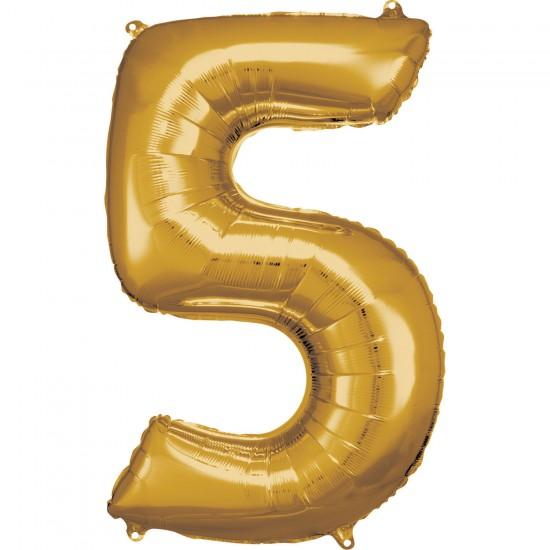 Νούμερο 5 χρυσό με ήλιον