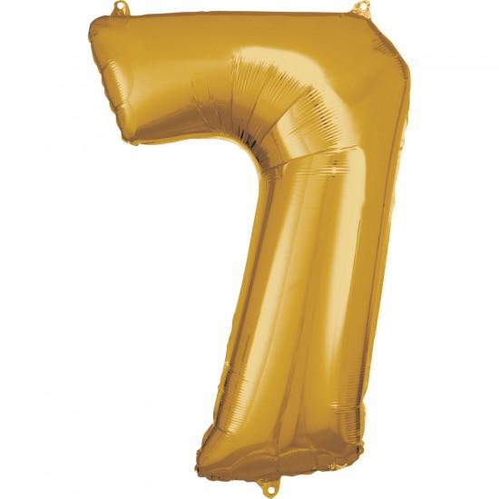 Νούμερο 7 χρυσό με ήλιον