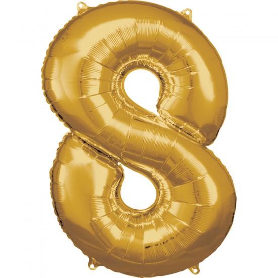 Νούμερο 8 χρυσό με ήλιον