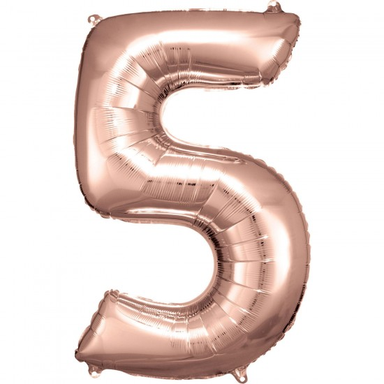 Νούμερο 5 ροζ χρυσό με ήλιον
