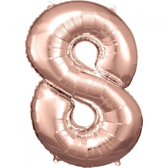 Νούμερο 8 ροζ χρυσό με ήλιον