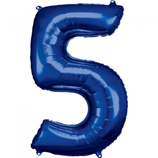 Νούμερο 5 μπλε με ήλιον