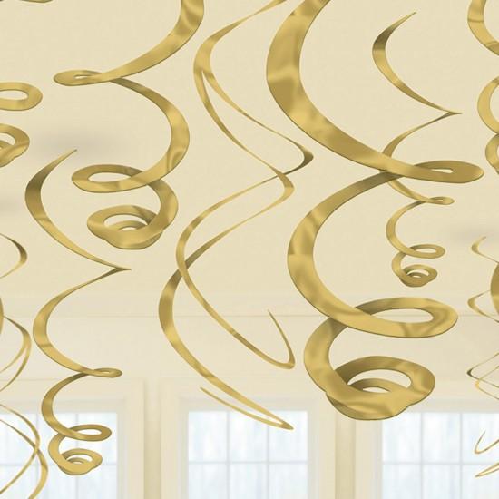 Διακοσμητικά Σπιράλ Χρυσό