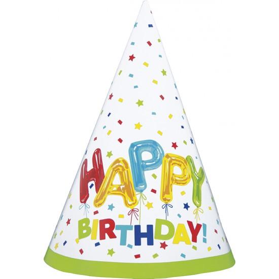 """Happy Balloon Birthday"" Καπελάκι"