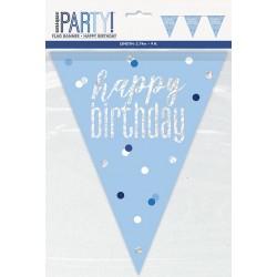 Σημαιάκια Happy Birthday Μπλε