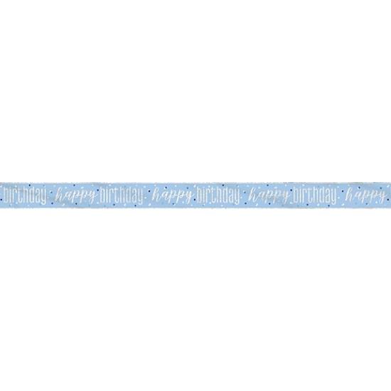 Happy Birthday foil banner Μπλε
