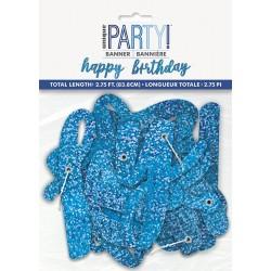 Happy Birthday Γιρλάντα Γράμματα Μπλε