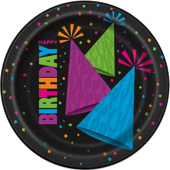 """Neon Birthday"" Πιάτο Γλυκού"