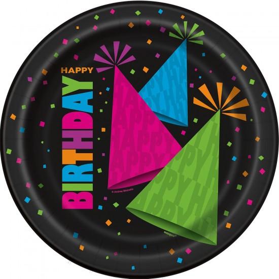 """Neon Birthday"" Πιάτο Φαγητού"