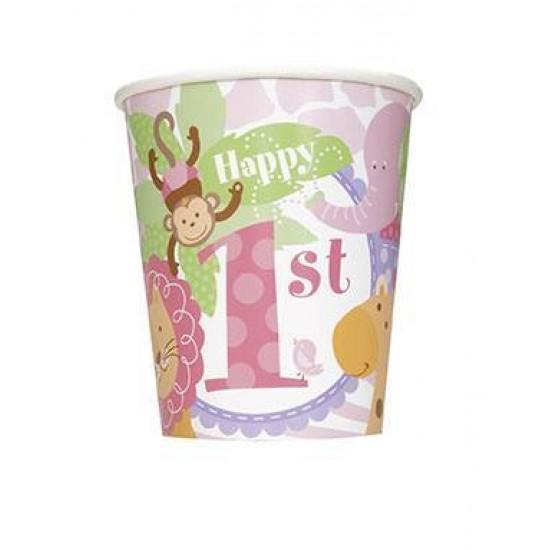 """Pink Safari 1st Birthday"" Ποτήρι"