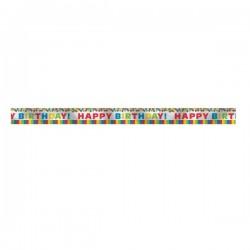 """Primary Rainbow"" Foil Banner"