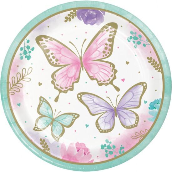 """Butterfly Shimmer"" Πιάτο Φαγητού"