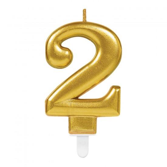 Κερί Νούμερο 2 χρυσό