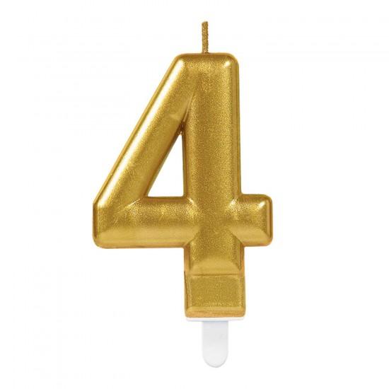 Κερί Νούμερο 4 χρυσό